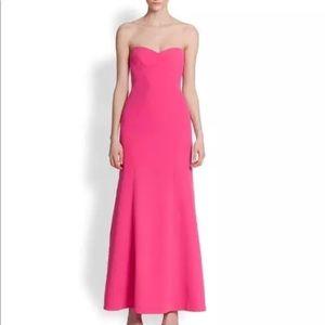 BCBGMAXAZRIA surrey strapless hot pink tube gown